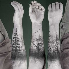 forearm-tree-tattoo reminds me of a part of the sleeve my brother plans on getting! can't wait until it's finished