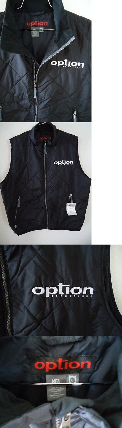 Vests 179012: Nfa Option Vest Mens Large Thermal Quilted Black Embroidered Logo Snowboard -> BUY IT NOW ONLY: $99.95 on eBay!