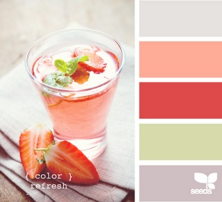 Coral & gray summer cocktail!