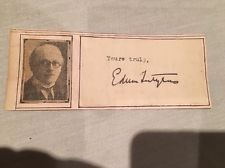 Sir Edwin Lutyens Autograph - Architect, Art Nouveau, Designer Of The Cenotaph