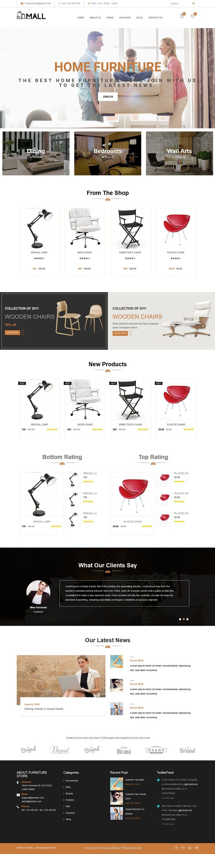 Rating Website Template. movie store a entertainment category flat ...