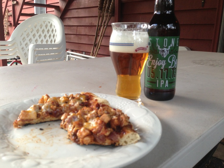 ... pizza & stone IPA! | Fat Kid | Pinterest | Ipa, Pizza and Chicken