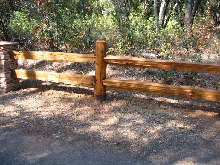 Pest Management Technology Redwood Split Rail Fencing