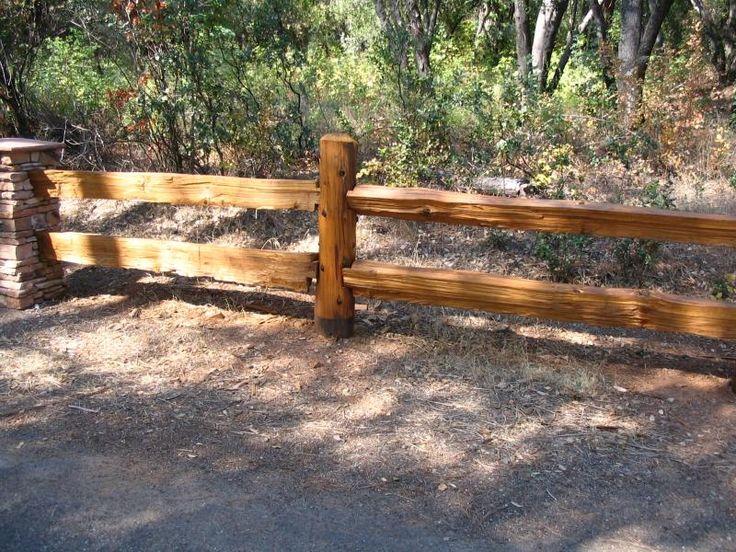 Pest Management Technology - Redwood Split Rail Fencing & Log ...