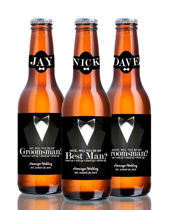 Beer Labels Will You Be My Groomsman Best Man Suit