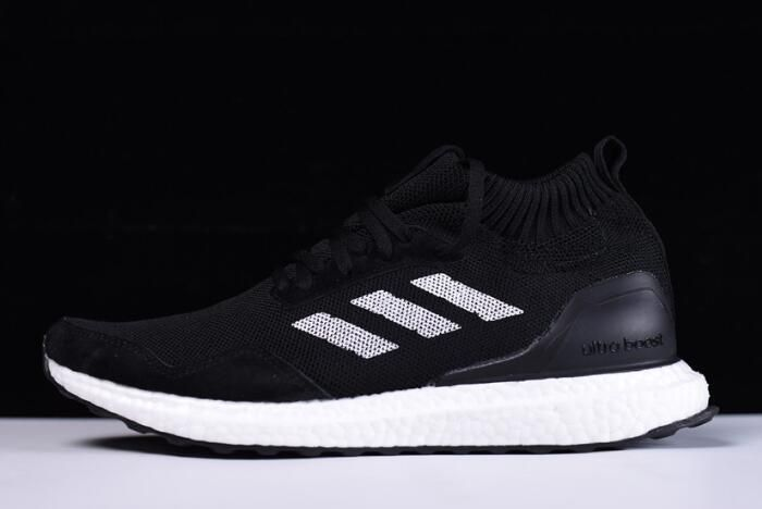 New adidas Ultra Boost Mid Black White Shoes On Sale Free Shipping a46319d95