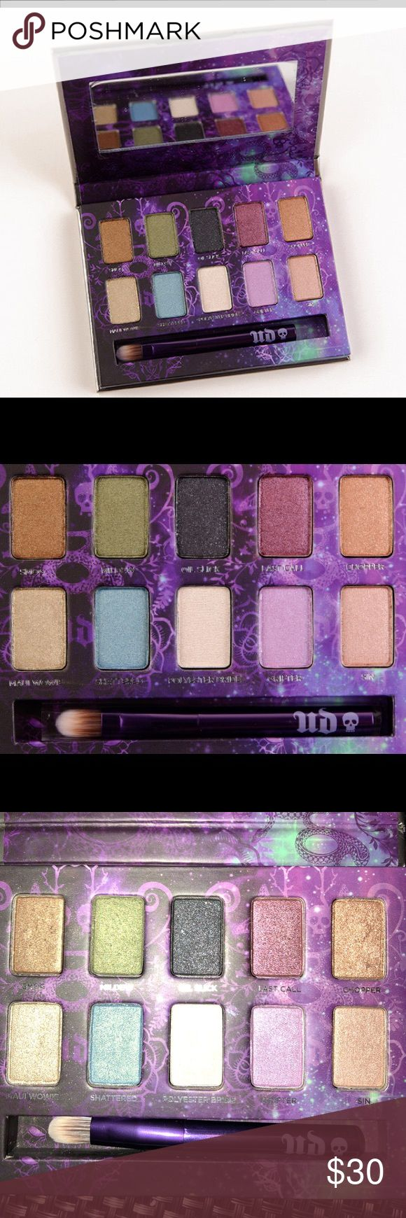 Urban Decay Eyeshadow Palette Urban Decay - Ammo eyeshadow Palette. Comes with brush, this palette is brand new and never touched. It's been sitting in my makeup drawer so it has a few dents on the cover but no damage to the makeup! Urban Decay Makeup Eyeshadow