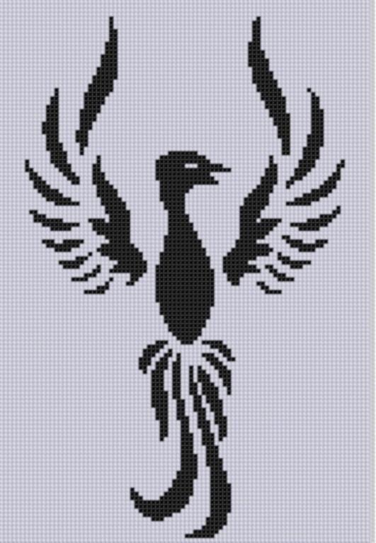 Phoenix 3 Cross Stitch Pattern