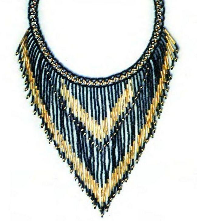 Нарядное ожерелье из бисера