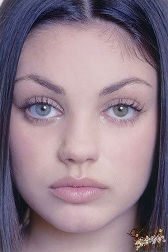 Young Mila Kunis ( eye color variation) shared to groups 3 ...