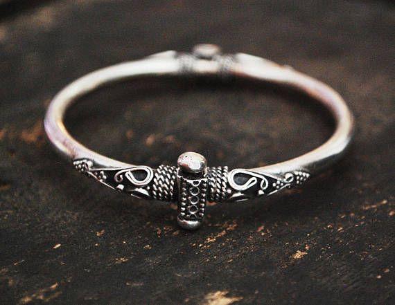 Indian Silver Bracelet  Ethnic Bracelet from India  BY COSMIC NORBU