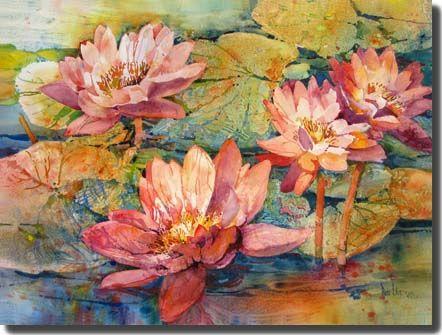 """Water Lilies"" - by Rose Edin (Gallery)"