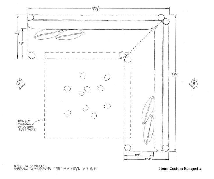 Plans For Building Kitchen Banquette Seating: Banquette Seating Dimensions