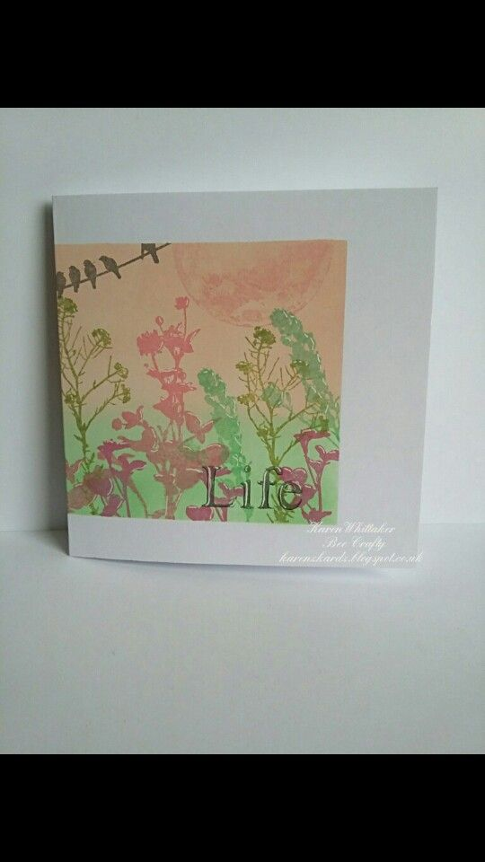 Wildflowers and Birds On A Wire stamps by Bee Crafty  #beecraftystamps #dtsample #wildflowers #birdsonawire #distressoxides #stamps #stamping #card #creative #craft #ilovetocraft #creativity