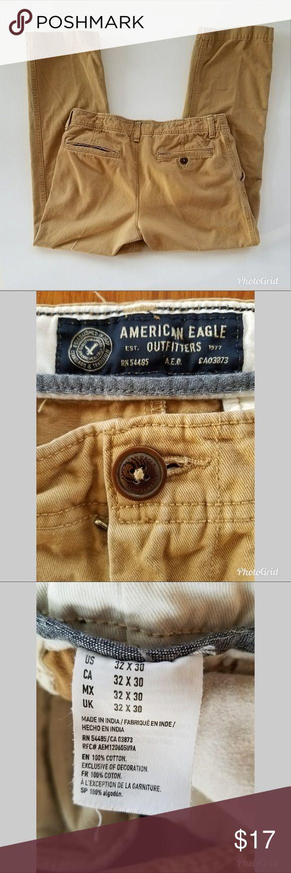 Men's American Eagle Khaki Pants Relaxed Straight, 32x30 American Eagle Outfitters Pants Chinos & Khakis