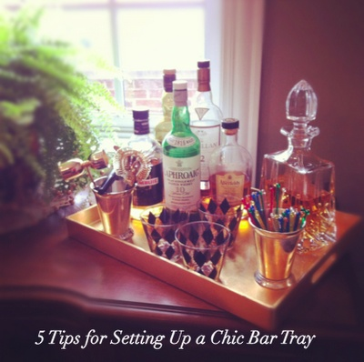 Five tips for setting up a chic home bar tray