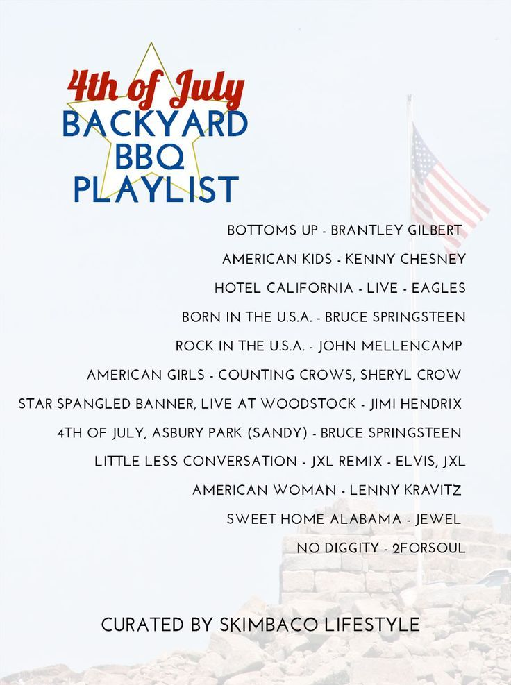 The perfect All-American vibe music playlist for your 4th of July party or for road trips in the USA