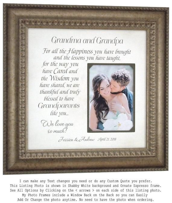 Unique Wedding Day Gifts For Grandparents Of The Bride