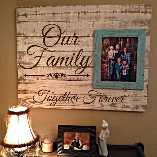 Custom Barnwood Frames - SIGN - OUR FAMILY, $49.99 (http://www.custombarnwoodframing.com/products/sign-our-family.html) #LGLimitlessDesign #Contest