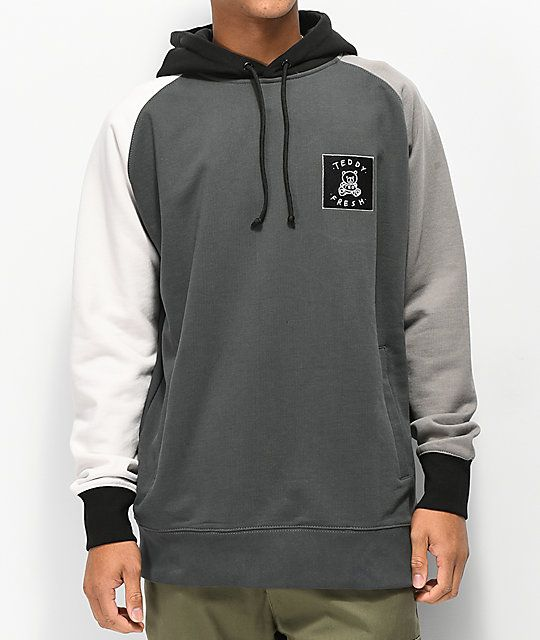 378603e99087 Teddy Fresh Colorblock Greyscale Hoodie in 2019