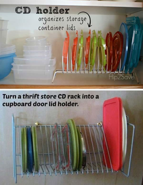 #6 TRANSFORM CD HOLDERS INTO STORAGE ORGANIZERS