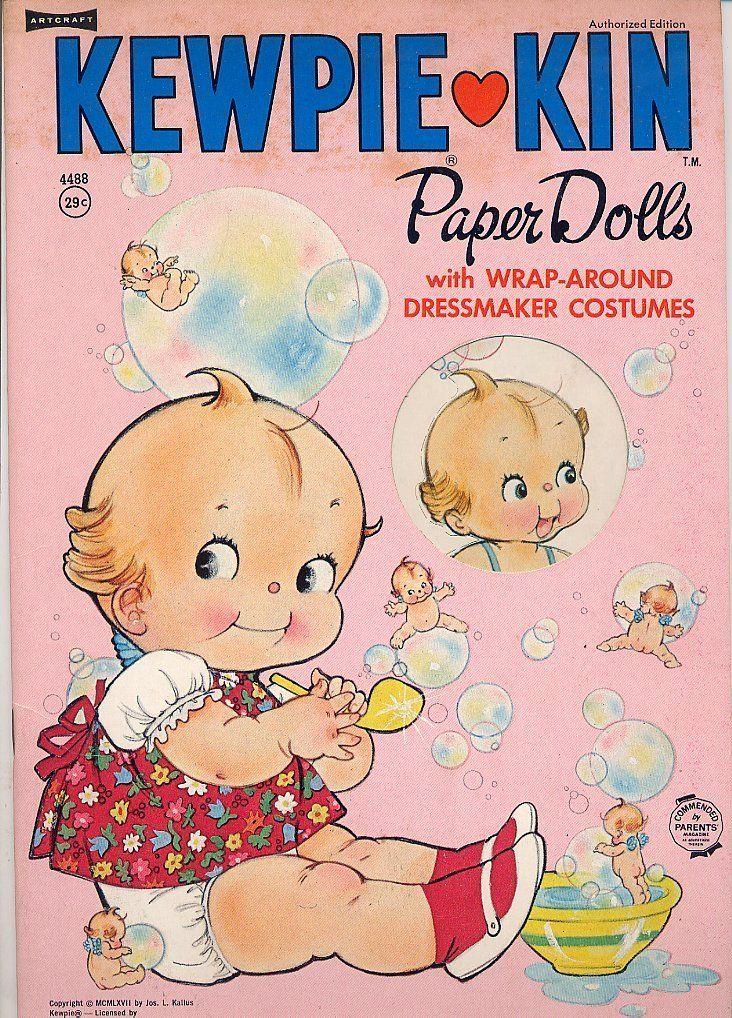 ''Kewpie Kin Paper Dolls'' Saalfield Publ 1967