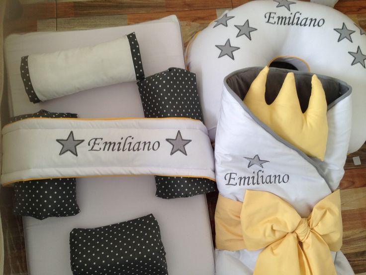 Colchoneta, cojin de lactancia y sleeping para la gran bienvenida de Emiliano . Gracias por confiar en nosotras