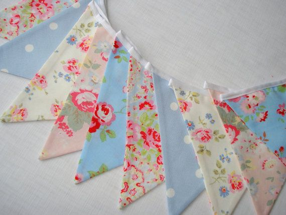 Shabby Chic Summer Bunting in Cath Kidston fabrics, only $27.26 USD, but ships from the UK......I would have bought it in a heartbeat if I didn't have to pay for international shipping! They used to have a Cath Kidston store in Santa Monica, CA, drove all the way down there, only to find out they had closed!