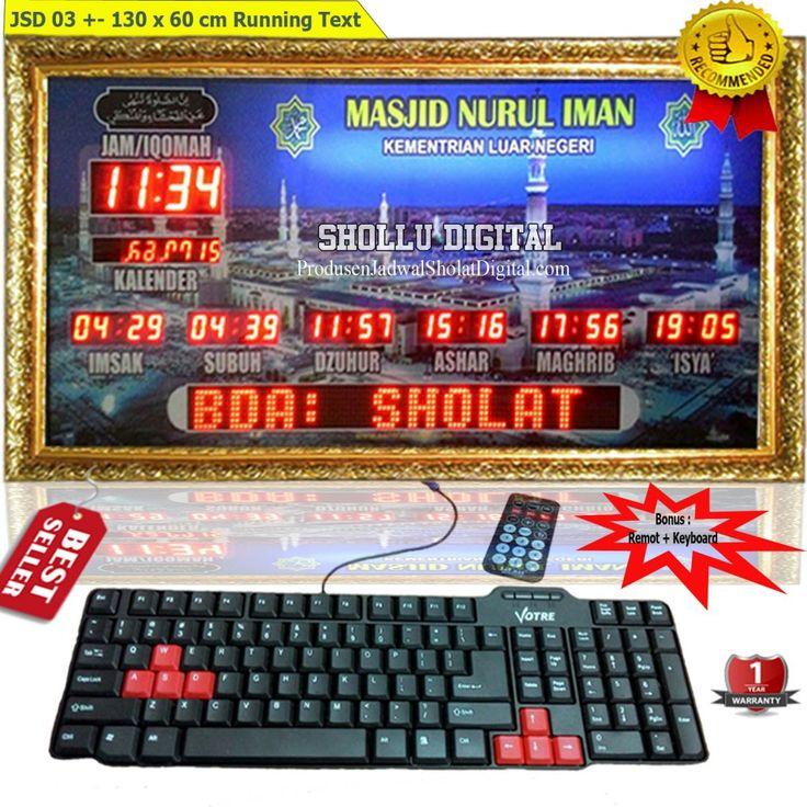 Produsen jadwal sholat digital sebagai penjual sekaligus distributor jadwal sholat digital dengan berbagai ukuran, tipe dan fitur menarik.  Produsenjadwalsholatdigital.com terpercaya, terlengkap dan fast respond. Informasi dan pemesanan : Ratna HP : 0822 8183 3592 PIN BB : 52B1974F Anis HP : 0877 7408 0299 PIN BB : 53B583C7 Bayu HP : 0853 6837 6917 PIN BB : 53F5505F Syella HP : 0853 2526 6462 PIN BB : 2A831354