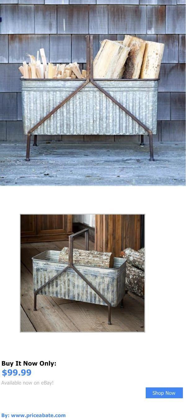 Home Decor: Metal Firewood Box~Farmhouse Decor BUY IT NOW ONLY: $99.99 #priceabateHomeDecor OR #priceabate