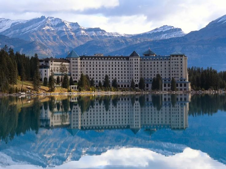The Fairmont Chateau Lake Louise. Alberta, Canada....Breathtaking. The place where I got married <3