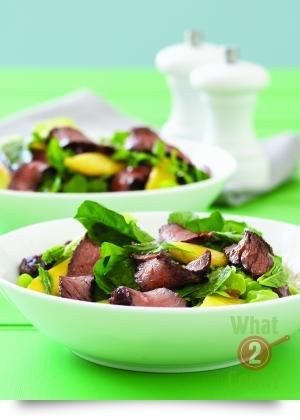 Beef & Mango Salad with mint and rocket