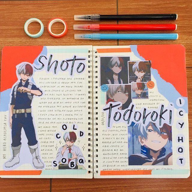 Todoroki Shoto Anime Book Bullet Journal Books Bullet Journal Themes