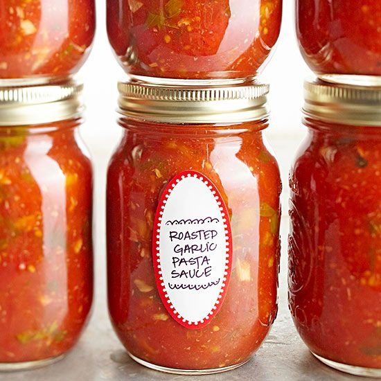 Canning Recipes from Better Homes & Gardens: Roasted Garlic Pasta Sauce