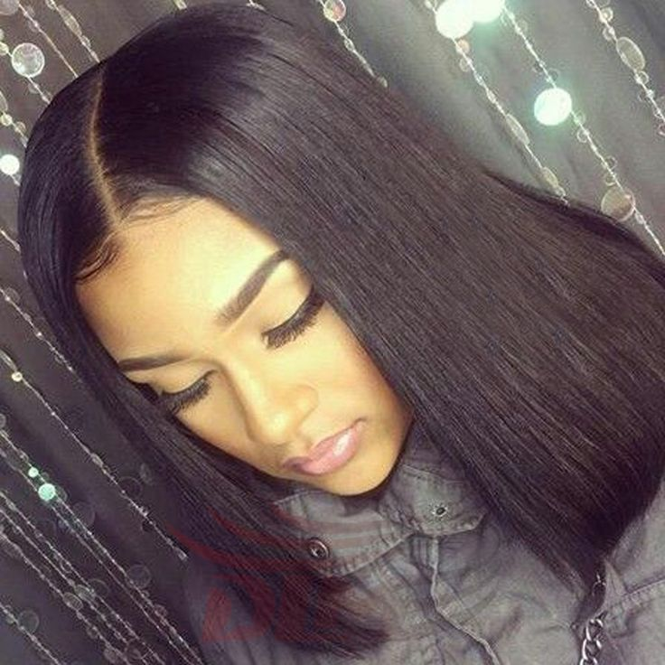 Middle Part Short Bob Full Lace Wigs Virgin Unprocessed Straight Peruvian Hair Bob Lace Front Wigs With Baby Hair Bleached Knots