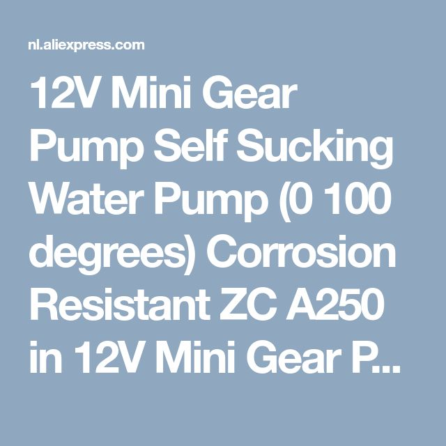 12V Mini Gear Pump Self Sucking Water Pump (0 100 degrees) Corrosion Resistant ZC A250 in 12V Mini Gear Pump Self-Sucking Water Pump (0-100 degrees) Corrosion-Resistant ZC-A250 van Pompen op AliExpress.com | Alibaba Groep