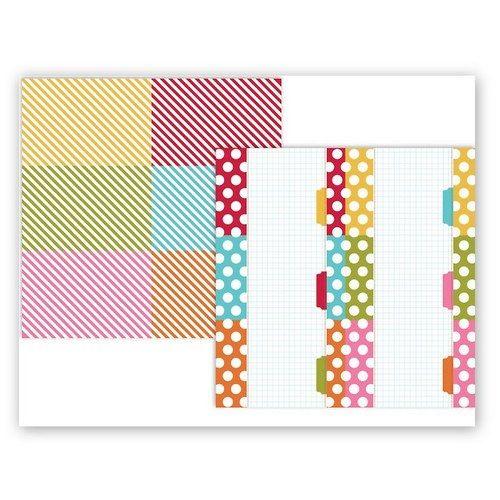 Scrapbookový papír SS/4x6/Color Vibe Dot Stripe 1