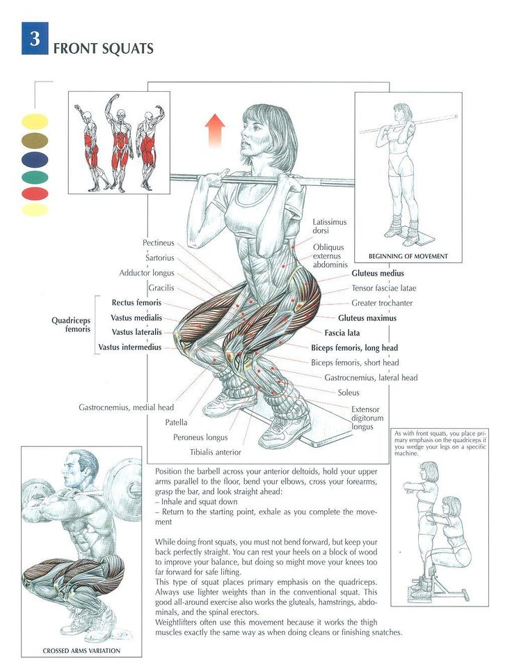 Front Squats ~ Repinned by Crossed Irons Fitness
