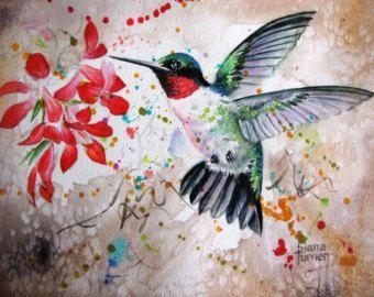 20% korting voor vaderdag vanaf nu, gebruik codewoord SPECIALDAD bij de kassa.  HUMMINGBIRD aquarel afdrukken Wall Art beperkte editie aquarel afdruk van mijn originele aquarel schilderij. Ik heb gewerkt met sommige nieuwe technieken dit afgelopen winter en als een kunstenaar is het altijd leuk om te proberen iets anders.  Dit is een 11 x 14 giclee print van mijn originele aquarel schilderij van deze Hummingbird. Uw drukwerk zal worden gesigneerd en genummerd. Deze wordt afgedrukt op…