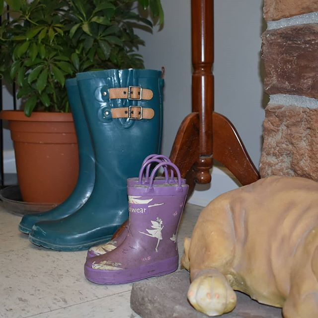 Happy Sunday! I know boots seem like an interesting choice- no we don't sell boots. However we do sell memories. Those little purple boots were Olivia's first pair of rain boots. We wore them out!  I put them out on display as a reminder to myself to make the memories she'll turn 5 soon. Together we have created gardens unloaded semis created displays gone to trade shows fixed waterlines she was here through the rebuild and we have watered for days- you know the work stuff. BUT there are the…