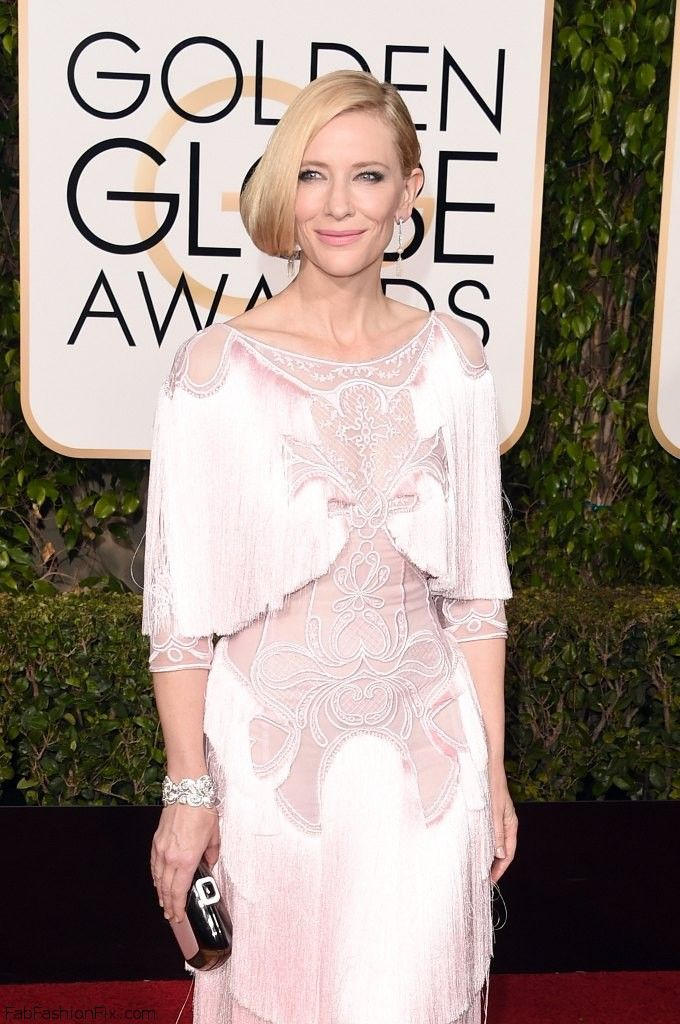 Stunning Cate Blanchett in Givenchy Couture pink gown at the 2016 Golden Globes. #cateblanchett