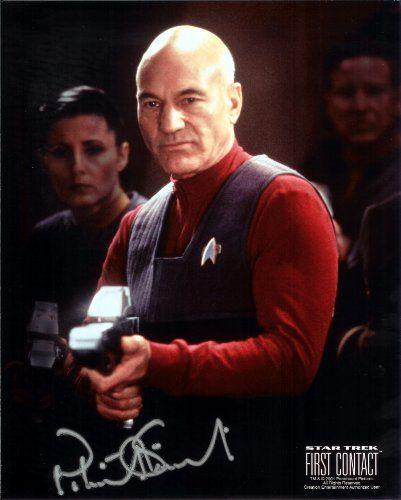 Star Trek Patrick Stewart in The Next Generation Signed Autographed 8 X 10 RP Photo - Mint Condition @ niftywarehouse.com #NiftyWarehouse #StarTrek #Trekkie #Geek #Nerd #Products