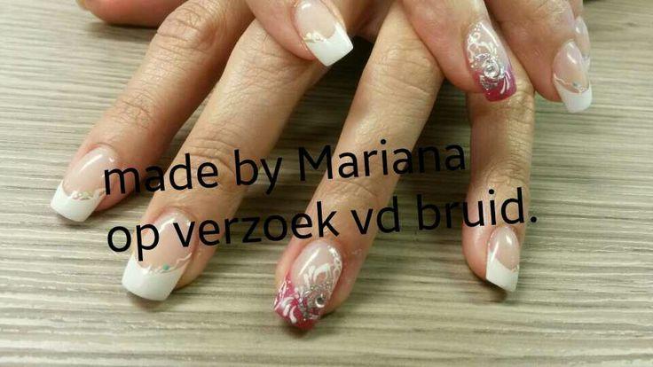 Acryl bruid nagels