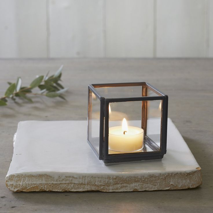 Super cute candle holder. Apsley Tealight Holder – Small | The White Company UK