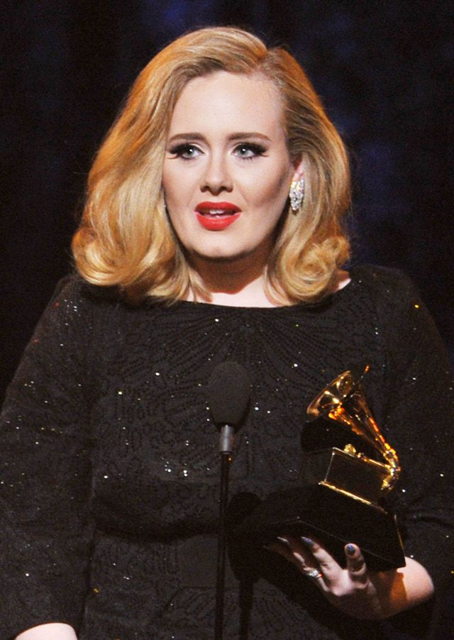 adele images | Adele receives one of her multiple awards during the 54th Grammy ...