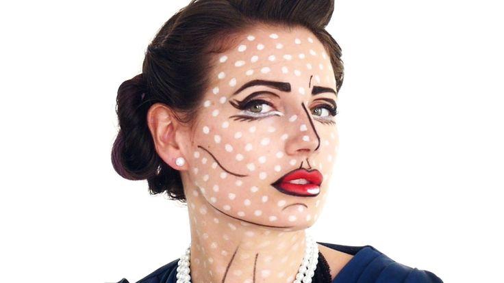 Pop Art Halloween Makeup Tutorial