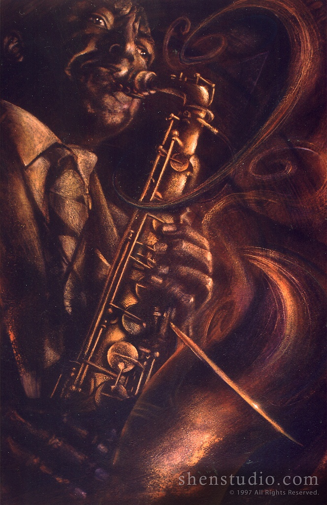 Bird (Charlie Parker) by Shen @ ShenStudio.com#Repin By:Pinterest++ for iPad#