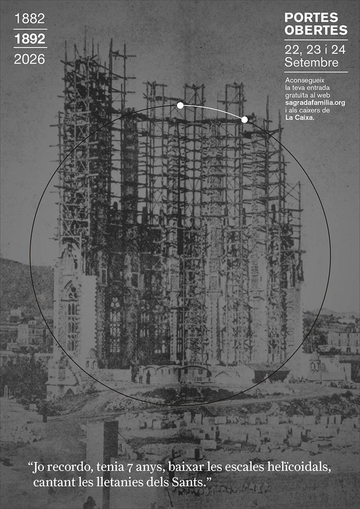 1892 // Campanya Portes Obertes, Puertas Abiertas, Open Days 1892 | 2026 Sagrada Familia #design #barcelona #sagradafamilia #photography