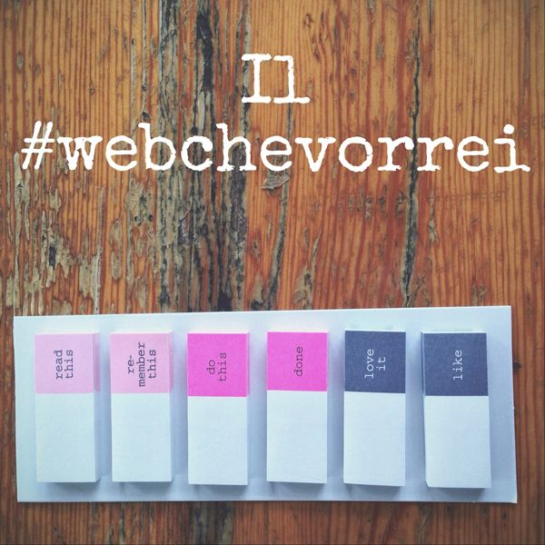 Il #webchevorrei