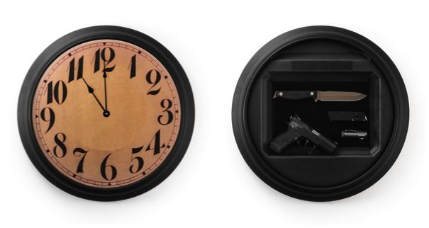 Your wife called....she wants a new clock for the wall. The Tactical Wall Clock from Tactical Walls will fit the bill. She gets a clock and you get a perfect addition foryour home defense.These clocks are all made by hand right here in the USA. The face is attached with velcro and when in place there's no way to tell that there is a 14x10 hidden storage space right behind the face.